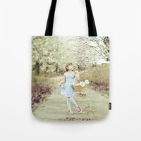 dorothy Tote Bags featuring Dorothy by Malice of Alice