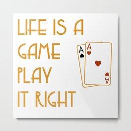 life is a game art Metal Print