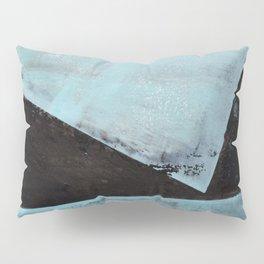 Aqua and Black Minimalist Geometric Abstract Pillow Sham