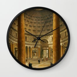 Giovanni Paolo Panini The Interior Of The Pantheon Rome Wall Clock