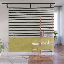Gold x Stripes Wall Mural