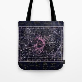 Cancer | Constellation map | Zodiac | Sign sky | Stars | Universe Tote Bag