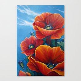 Poppy Breeze Canvas Print