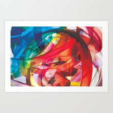 Clusters on mind #1 Art Print