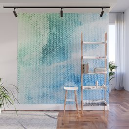 Textured Pastel Cotton-Candy Clouds Design Wall Mural