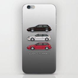 Stack of Volvo 480 Turbos iPhone Skin