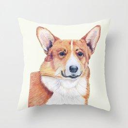 Welsh corgi pembroke Throw Pillow