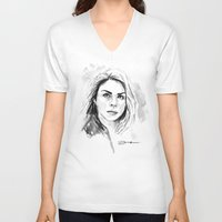 rose V-neck T-shirts featuring Rose by Danny Haas