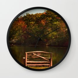 Fall shows us how beautiful it is to let things go Wall Clock