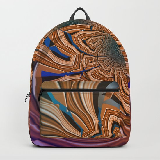 Autumn abstract with tribal patterns Backpack