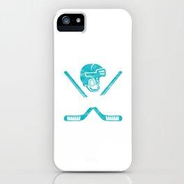 Eat Sleep Hockey Repeat Goalie Net Field Game Stick Shinny Gift iPhone Case
