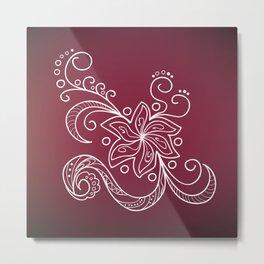 mehndi flower Metal Print