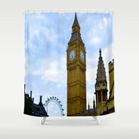 england Shower Curtains featuring London, England by Heather Hartley