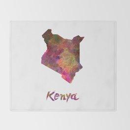 Kenya in watercolor Throw Blanket