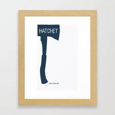 Hatchet, Gary Paulsen: Book Cover Redesign Framed Art Print