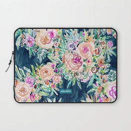 SO RICH Dark Boho Floral Laptop Sleeve