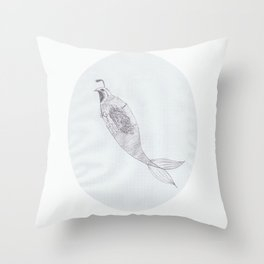 Merquail Throw Pillow
