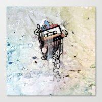 cassette Canvas Prints featuring cassette by Vladimir  Serov