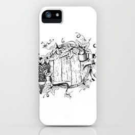 Wine in a barrel iPhone Case