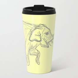 Elephant Swimming Gestural Drawing Travel Mug