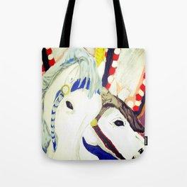 Carousel Horses Seaside Amusements Fine Art Tote Bag