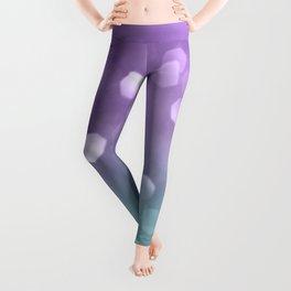 Mermaid Colored Bokeh #1 #shiny #decor #art #society6 Leggings