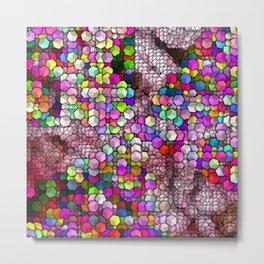 Artistic Cubes 03 candy Metal Print