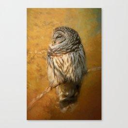 Ollie In Autumn Canvas Print