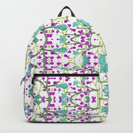 Colorful Modern Floral Pattern Backpack