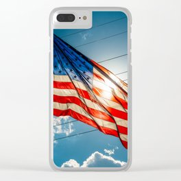 United States Flag in the sunlight Clear iPhone Case
