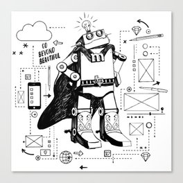 Mighty Bot Canvas Print
