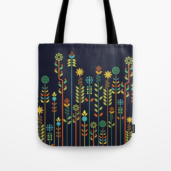 Overgrown flowers Tote Bag