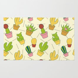 Colorful Cactus Pattern Rug