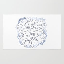 Anything can happen Blue Rug