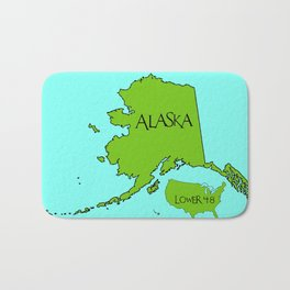 Alaska and the Lower 48 Forty-eight Bath Mat