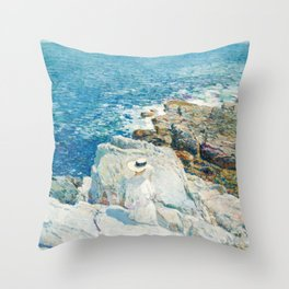 Childe Hassam The South Ledges Appledore Throw Pillow