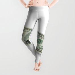 Donald Trump on a One Hundred Dollar Bill Leggings