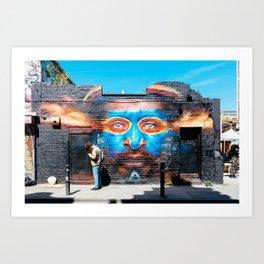 Graffiti in Brick Lane, London Art Print