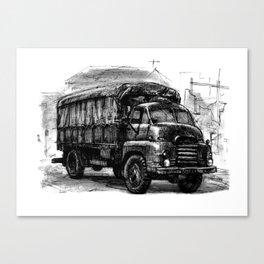 Bedford RL Army Truck Canvas Print