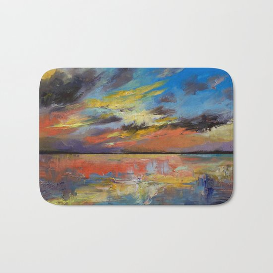 Key West Florida Sunset Bath Mat