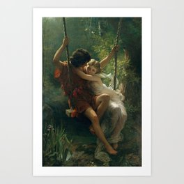 Springtime by Pierre-Auguste Cot 1873, French Art Print