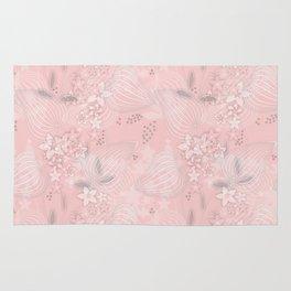 Pink floral pattern 2 Rug