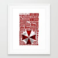 resident evil Framed Art Prints featuring Resident Evil Story... by Rosso
