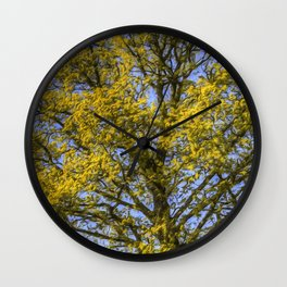 Summer Tree Art Texture Wall Clock