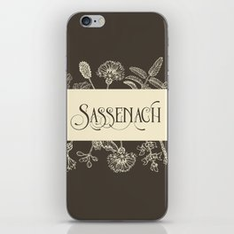 Sassenach in Sepia iPhone Skin