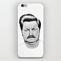 swanson iPhone & iPod Skins featuring Ron Swanson by 13 Styx