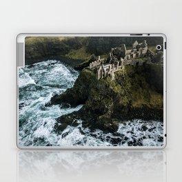 Castle ruin by the irish sea - Landscape Photography Laptop & iPad Skin