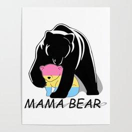 Mama Bear Pansexual Poster