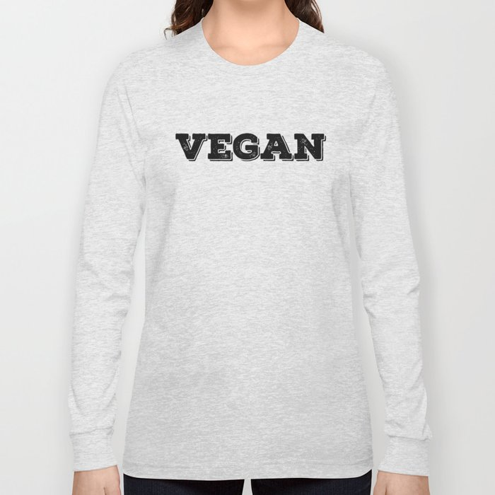 Vegan stamp black letters Long Sleeve T-shirt