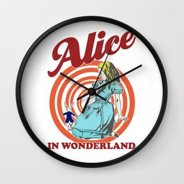 Alice In Wonderland, Follow The White Rabbit T Shirt, Original Gift Idea Wall Clock